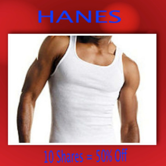 ae1be9100b85d9 Hanes 7 Pack Men s FreshIQ ComfortSoft® White Tank